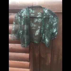 Dark green lace bolero